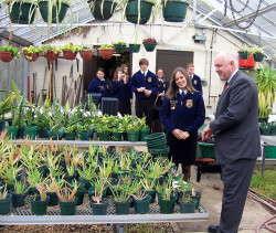 Ag Secretary Visits High School Greenhouse