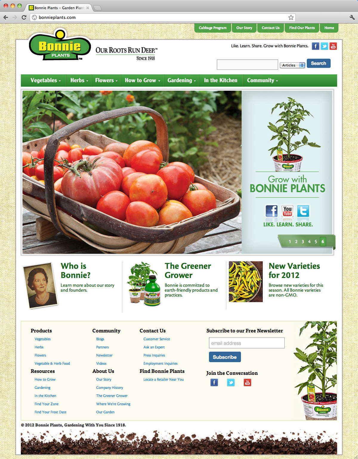 Bonnie Plants Launches New Website