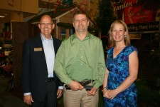 2012 Head Grower of the Year Joe Moore with BASF's Steve Larson and Greenhouse Grower's Robin Siktberg