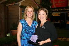 Delilah Onofrey (right), former editor of Greenhouse Grower, with Robin Siktberg, the current editor. Delilah was presented with the first-ever Editor's Award for Special Contributions to Floriculture