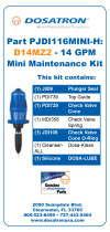 Dosatron Mini Maintenance Kits