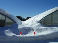 If structures are spaced too closely together, snow removal equipment cannot get in between them.  Photo by John Bartok, Jr.