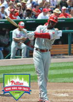 Phillies player Domonic Brown, the National League's home-run leader, will have several trees planted in his honor as part of the Home Runs For Trees campaign.