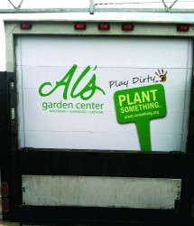 Here's how Al's Garden Center incorporated the Plant Something marketing graphics in its delivery truck wrap.