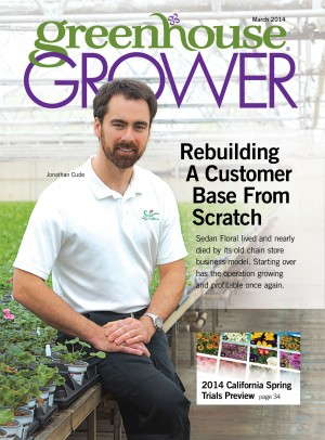 Greenhouse Grower Cover March 2014 Jonathan Cude Sedan Floral