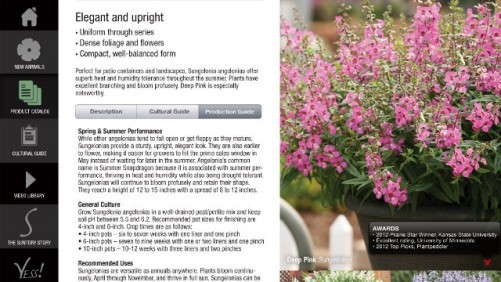 Suntory Flowers Releases Its New Grower's Guide App