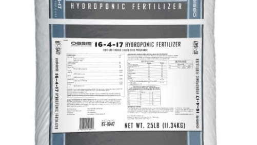 OASIS Grower Solutions Introduces New One-Bag Hydroponic Fertilizer