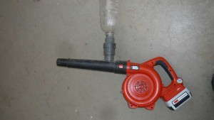 Retrofitting a leaf blower to distribute predatory mites in your greenhouse is effective and saves labor.