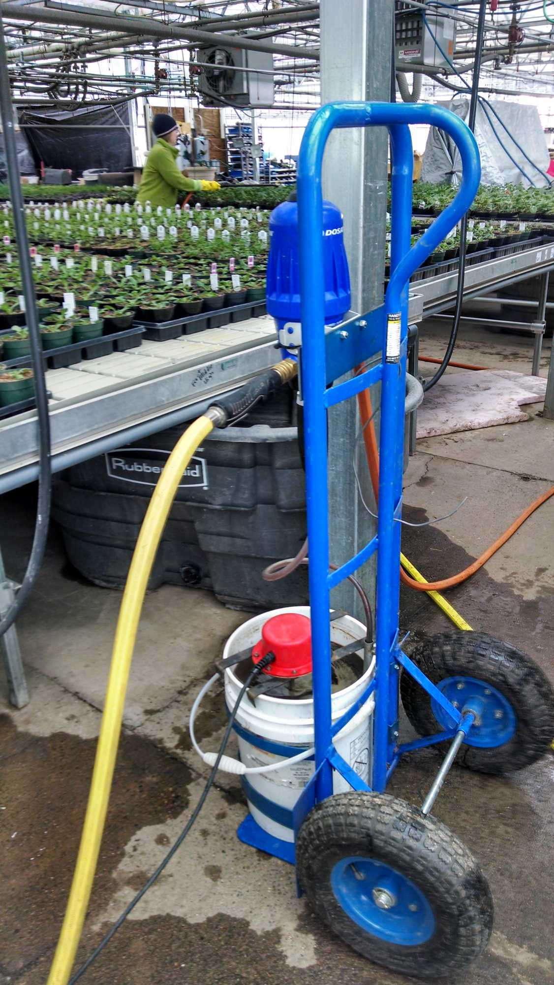 Pork & Plants uses Dosatron injectors to apply nematode drenches.