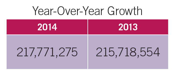 Top 100 Growers YOY Growth
