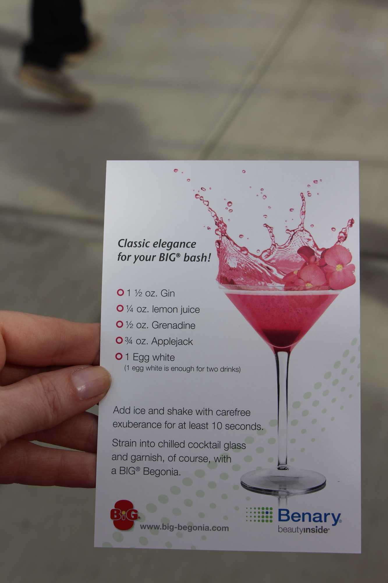 Benary cocktail recipe