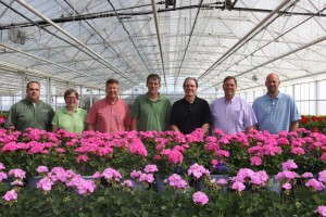 Co-owners of Henry Mast Greenhouses, Masterpiece Flower Company and Peak Transportation Solutions, (left to right): Todd Potter, Shawn Koepnick, Ron Mercer, Leroy De Vries, Paul Bouma, Tim Stiles and Chris Mast
