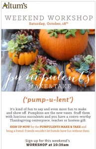 What's a pumpulent? It's a pumpkin planted with succulents, and it's also one of the ways Altum's is catching customers' attention with new products and modern marketing.