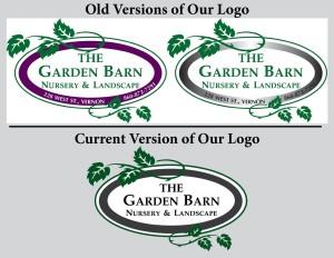 Old vs New Garden Barn Nursery Logo