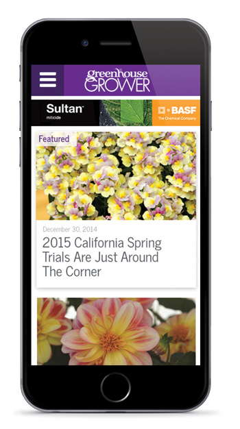 Greenhouse Grower Website Mobile