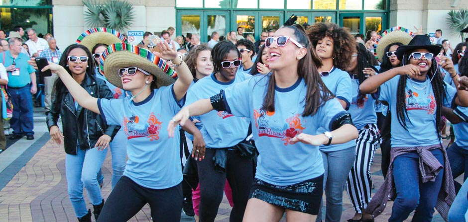 Student Flash Mob At TPIE Has Roots In Floriculture