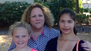 Amy Daniel with daughters
