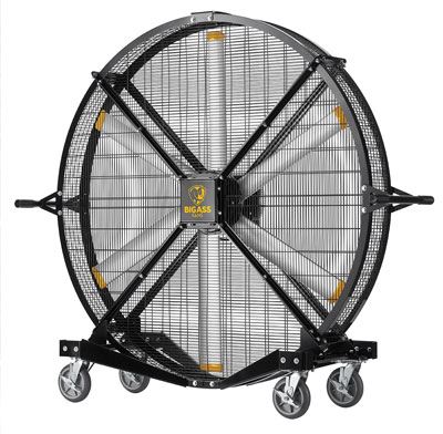 Big Ass Fans are built to last and come with features that can function in moist environments.