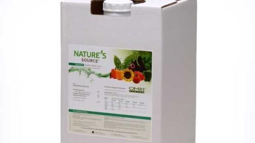 UMASS Fertilizer Trials Recommend Nature's Source Organic Plant Food 3-1-1