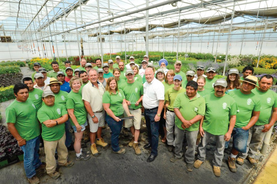 Sheridan Nurseries Ceo Karl Stensson Center Presents The Growing Team At Operation S Norval