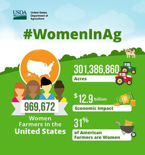Women In Agriculture infographic