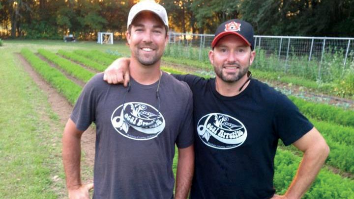 Will Mastin right and business partner Karl Brantley of Local Appetite market their produce to high-end restaurants and the occasional farmers market