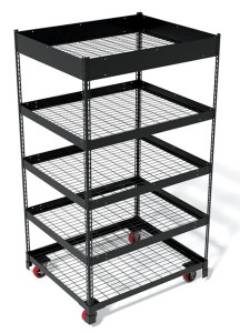 Midwest Wire Products now offers a stackable Rivet Rack Mini Merchandiser, which can be used as a mobile display at retail