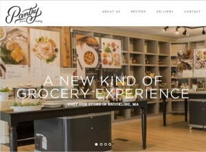 Pantry recipe store's homepage image