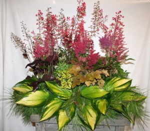 Perennial Casket Spray Coral Bells from Hoerr Nursery