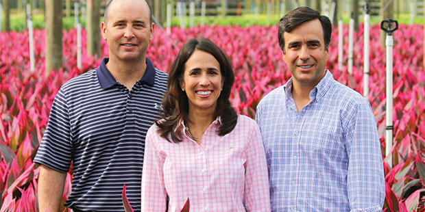 "The current owners of Costa Farms (left to right) are Jose ""Joche"" Smith, Maria Costa-Smith, and Jose Costa."
