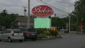 Bob's Garden Center roadside sign