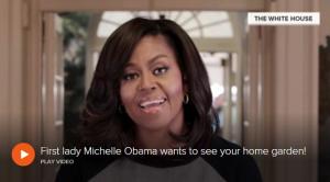 Michelle Obama Tour De Garden
