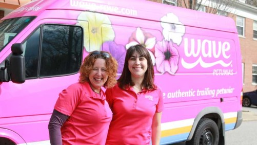Hot Pink Wave-Rave Van Making Its Way To The Big Apple To Promote Wave Petunias And Pansies