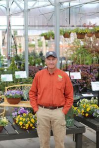 Jeff Griff in the new greenhouse 2016
