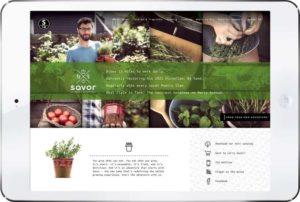 Savor New Website
