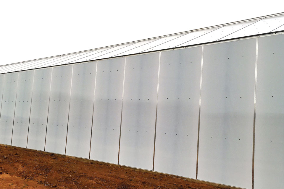 Multi Wall Polycarbonate Covering (Resolite) glazing