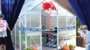 Metrolina Builds, Decorates Greenhouse for Young Cancer Patient