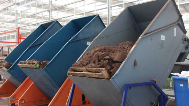 Soil Dosage Bunkers at Meyers Greenhouses feature