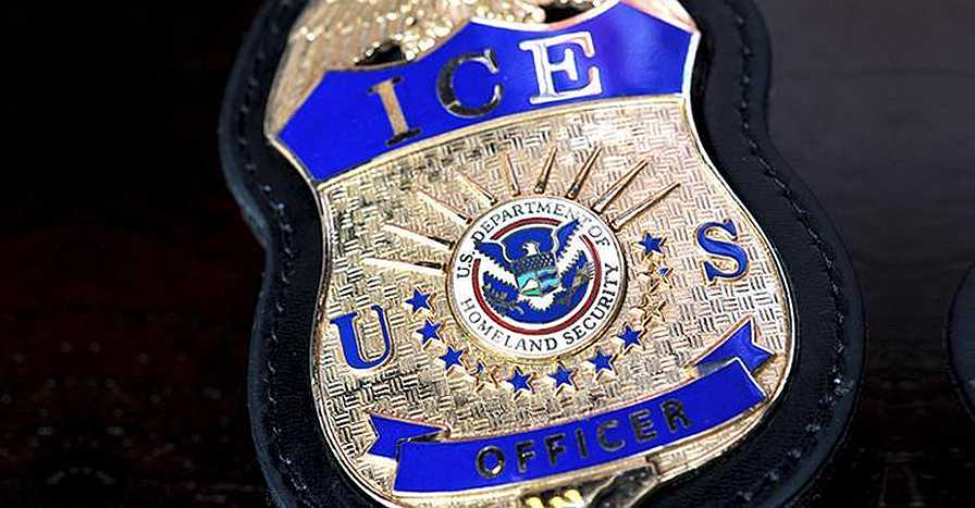 U.S. Bureau of Immigration and Customs Enforcement officer badge