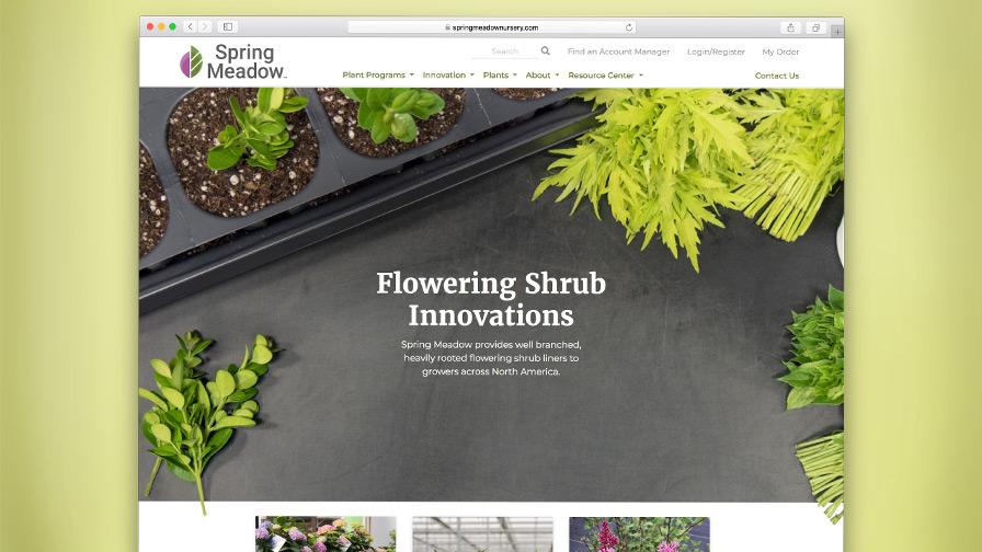 Spring Meadow Nursery Redesigns Website