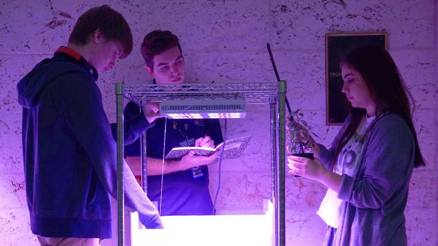 High school students conduct research for NASA at Fairchild Tropical Botanic Garden