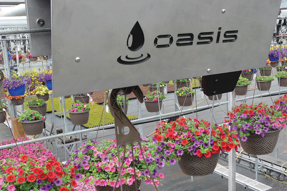Oasis watering system from ControlDekk