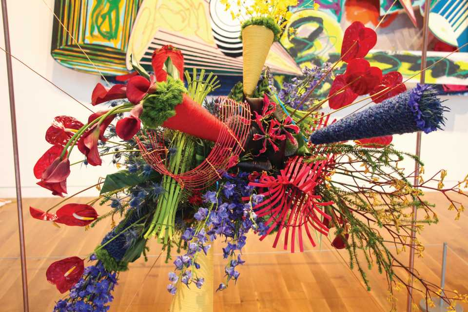 Floral art installation at Art in Bloom