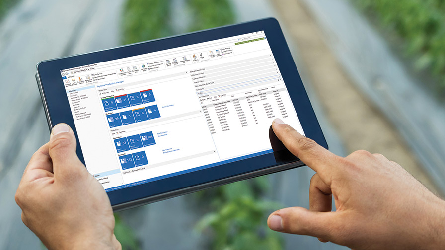 IPad in field for Greenhouse Software
