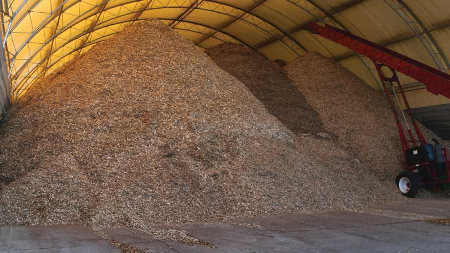 Large pile of growing medium
