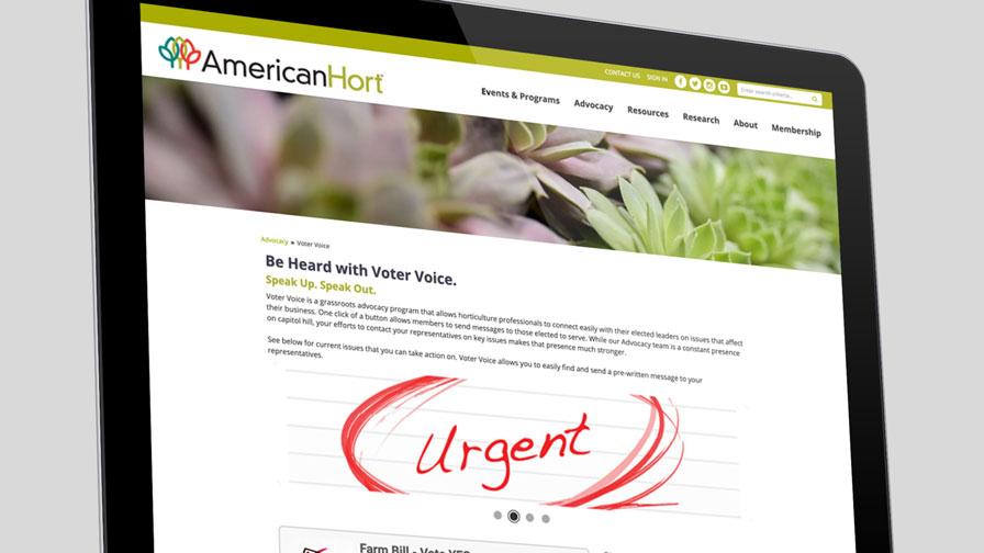 AmericanHort Voter Voice web page