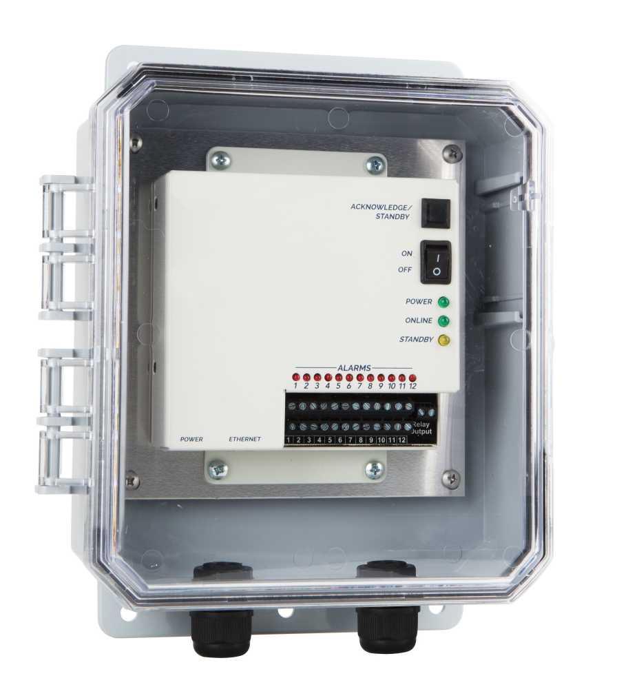 Cloud-based-monitor-in-enclosure remote monitoring sensaphone