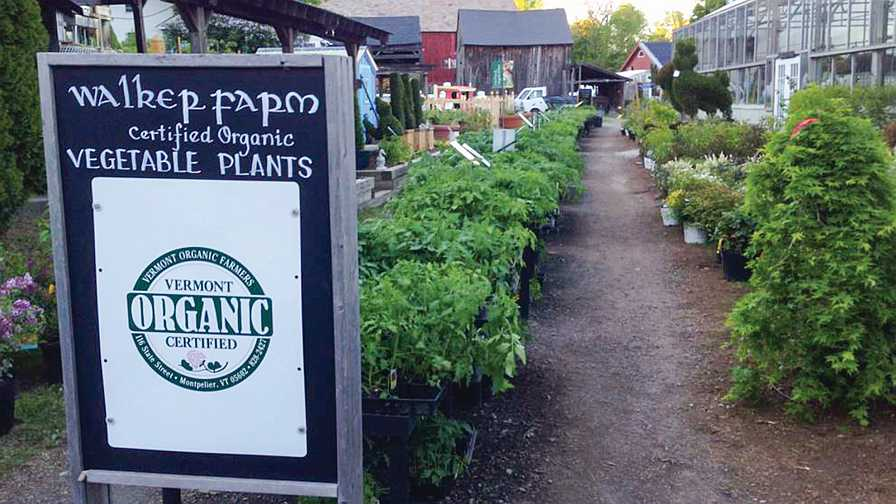 Organic certified sign at Walker Farm in Vermont
