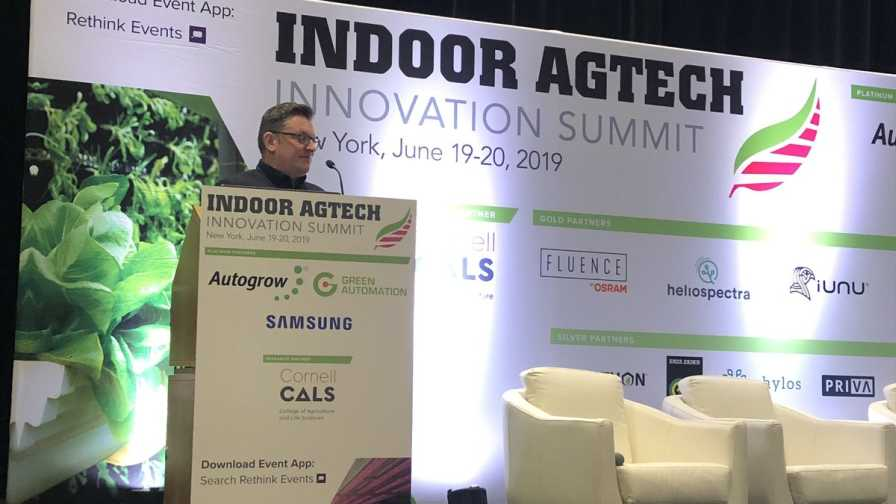 Daryn Keiller speaks at 2019 Indoor Agtech