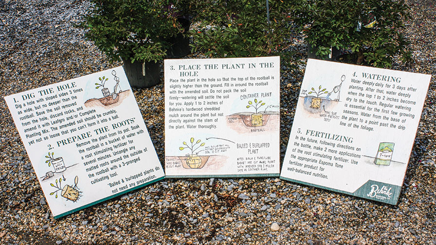 Planting-Instructions independent garden centers